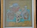 Tablou vechi semnat Nedel (pictura pe panza)