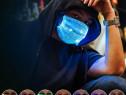 Masca fata LED Rave party Revelion luminoasa cu filtru PM2.5