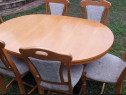 Masa cu scaune din Lemn masiv