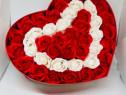 Inimi din trandafiri , cadou nemuritor