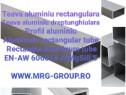 Teava aluminiu dreptunghiulara rectangulara 60x40x2mm Inox