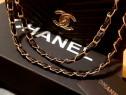 Geantă Chanel super model,logo auriu, saculet inclus