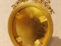 C460- I-Rama Empire Franta miniatura ovala bronz aurit masiv