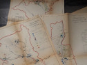 Carte veche zece harti rascoala taranilor din anul 1907
