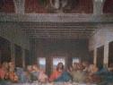Tablou executat din puzzle - cina cea de taină - după Vinci