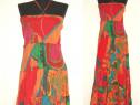 Rochie maxi, noua, ampla, cu print floral colorat