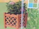 4 Bucati Jardinieră lemn rustică grădină
