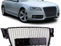 Grila sport tuning Audi A5 8T RS Style negru lucios (07-11)