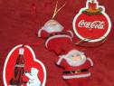 Jucării Coca Cola de Crăciun (4 de pom + 2 magneţi frigider)