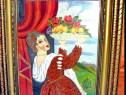 169a-Goblen vechi Mariana- Femeie cu fructiera.