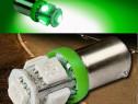 LED-uri pozitie BA9S - 5 SMD CANBUS -culoare verde