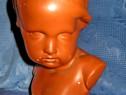 1725-Statuieta Copil din ghips aurit in stare buna cu marcaj