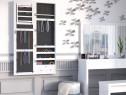 OGA302 - Oglinda caseta de bijuterii perete dormitor - Alb