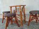 Masa cu scaunele tapitate