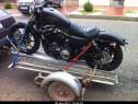 Transport motocicleta cu remorca specializata