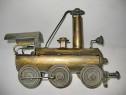 7215-Locomotiva tren colectie metal manual executata.