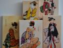 5 Picturi pe panza unicat de inspiratie Japoneza