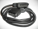 EUROSCART dublu, cablu TV, audio-video, lungime 1,5 metri