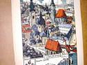 7947-Salzburg Austria panorama centrala gravura color carton