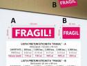 Etichete autocolante FRAGIL