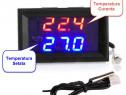 Termostat electronic digital controler temperatura cu sonda