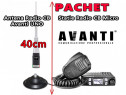Pachet statie radio cb avanti micro + antena avanti uno 40cm