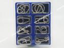 Puzzle Metalic C - Set 8 jocuri de logica si antistres