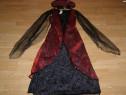 Costum carnaval serbare vrajitoare rochie gotica contesa