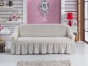 Husa elastica pentru canapea de 3 locuri - Culoare Krem