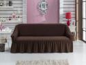 Husa elastica pentru canapea 3 Locuri - Maro