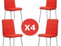 Set 4 scaune de bucatarie cadrul metalic cromat-transport gr