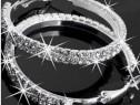 Creole cu cristale placate cu argint