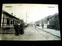 Kiralyhasa-Korolevo-Gara cu militari si tren 1916-carte post
