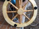 Producem lustre din lemn masiv-Candelabru rustic
