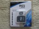 MICROSD CARD 8GB cu adaptor SD, nou, sigilat, schimb