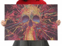 Poster vintage Skull craniu hartie kraft dim 35.5 x 51 cm