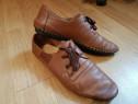 Pantofi Collichany maro, din piele naturala, de barbati