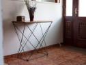 Măsuță dreptunghiulară de sufragerie/hol în stil industrial