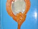6230A-Oglinda Dama sculptata in lemn masiv cires.