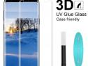 Samsung S8 S8 Plus Folie Sticla Curbata 3D cu Lipire la Uv