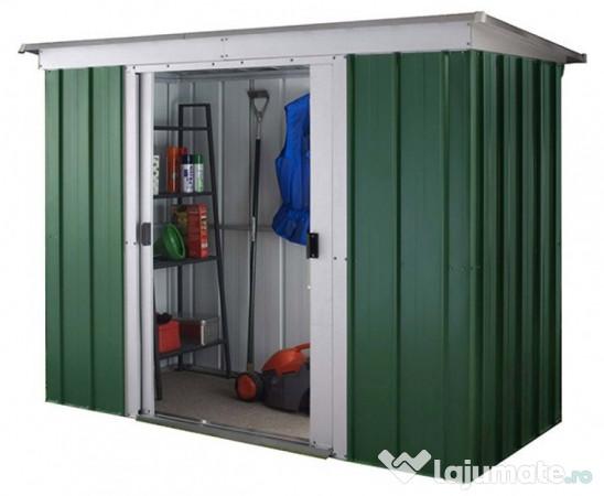 Casuta gradina metal gp64 198x119 cm magazie verde 949 for Abri de jardin mr bricolage