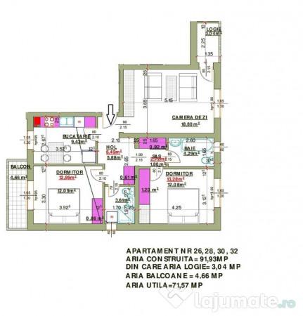 Apartament 3 Camere Decomandat De 75 Mp In Calea Cisnadiei