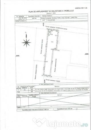 Vanzare  terenuri constructii  494 mp Ilfov, Voluntari  - 60000 EURO