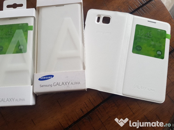 b6116689317 Husa Flip S-view Originala pt Samsung Galaxy Alpha,Noua,Alba, 39 ron ...