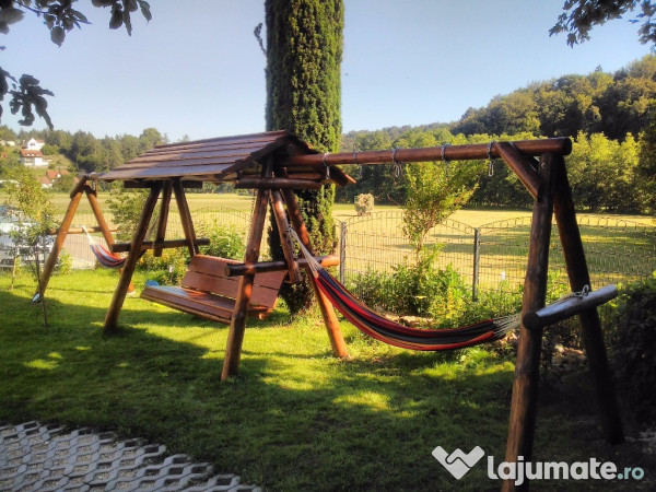 Leagane Si Balansoare Rustice Cu Extensii Pentru Hamac 1 500 Lei Lajumate Ro