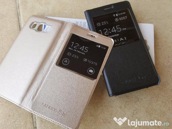 low priced c1229 55dbd Husa Flip cover s-view pt Samsung Galaxy J5(6)2016 Noua, 35 ron