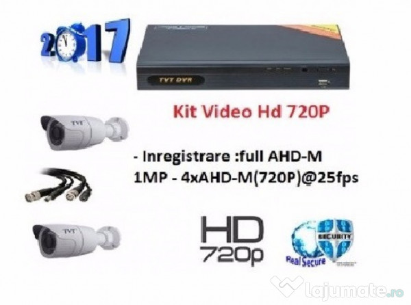 Kit Supraveghere Video Exterior 2 Camere 1mp Inregistrare 439 90 Ron