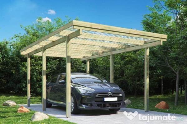 Carport für 3 autos. wohnhaus in ziegelbauweise mit 3 wohneinheiten