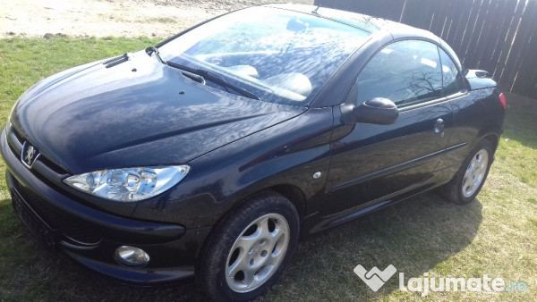 peugeot 206 cc diesel cabrio 2005 1 6hdi 80kw eur. Black Bedroom Furniture Sets. Home Design Ideas