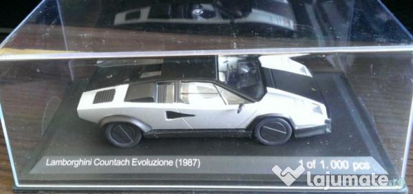 Macheta Metal Lamborghini Countach Evoluzione 1987 Noua 85 Ron